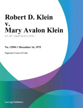 Robert D. Klein v. Mary Avalon Klein