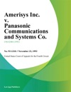 Amerisys Inc V Panasonic Communications And Systems Co