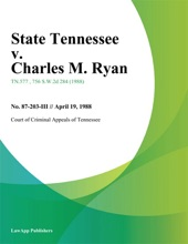 State Tennessee V. Charles M. Ryan