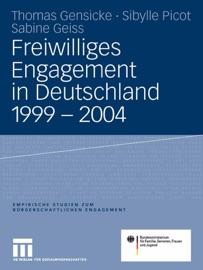 Freiwilliges Engagement In Deutschland 1999 2004