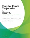 Chrysler Credit Corporation V Harry G