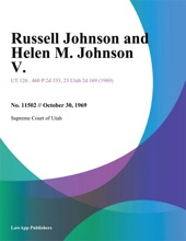 Russell Johnson And Helen M. Johnson V.