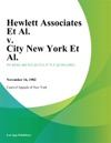 Hewlett Associates Et Al V City New York Et Al