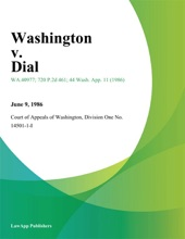 Washington V. Dial