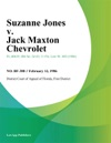 Suzanne Jones V Jack Maxton Chevrolet