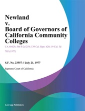 Newland V. Board Of Governors Of California Community Colleges