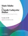 State Idaho V Claude Lafayette Dallas