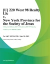 U 220 West 98 Realty Llc V New York Province For The Society Of Jesus