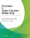 U Eaker V Naber Chrysler Dodge Jeep