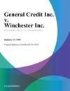 General Credit Inc V Winchester Inc