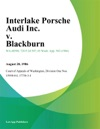 Interlake Porsche Audi Inc V Blackburn