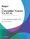 Roper V Caterpillar Tractor Co Et Al