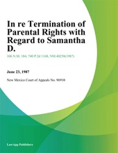 In Re Termination Of Parental Rights With Regard To Samantha D.