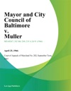 Mayor And City Council Of Baltimore V Muller