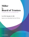 Miller V Board Of Trustees