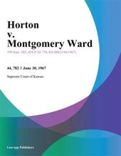 Horton V. Montgomery Ward