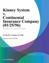 Kinney System V Continental Insurance Company 012596