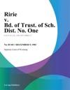 Ririe V Bd Of Trust Of Sch Dist No One