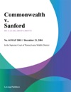 Commonwealth V Sanford