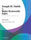 Joseph H Smith V Boise Kenworth Sales
