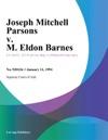 011194 Joseph Mitchell Parsons V M Eldon Barnes