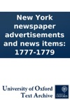 New York Newspaper Advertisements And News Items 1777-1779