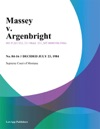 Massey V Argenbright