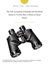 The Gift Economies Of Kinship And Sacrificial Desire In Tis Pity Shes A Whore Critical Essay