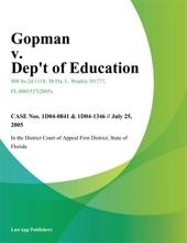 Gopman V. Dept Of Education