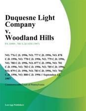 Duquesne Light Company V. Woodland Hills