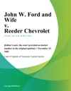 John W Ford And Wife V Reeder Chevrolet