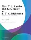 Mrs C J Rambo And J R Sealey V E T C Dickenson