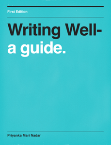 Writing Well- Book Review