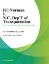 U Norman V NC Dept Of Transportation