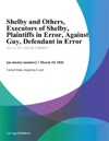 Shelby And Others Executors Of Shelby Plaintiffs In Error Against Guy Defendant In Error