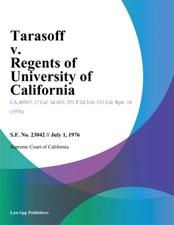 tarasoff v regents of california