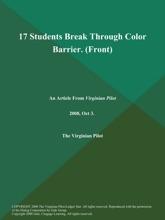 17 Students Break Through Color Barrier (Front)