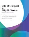 City Of Gulfport V Billy D Saxton
