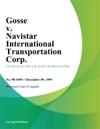 Gosse V Navistar International Transportation Corp