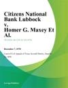 Citizens National Bank Lubbock V Homer G Maxey Et Al