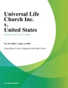 Universal Life Church Inc V United States