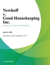 Newhoff V. Good Housekeeping Inc.