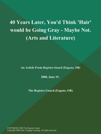 40 Years Later You D Think Hair Would Be Going Gray Maybe Not Arts And Literature