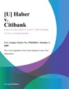 Haber V Citibank