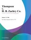 Thompson V H B Zachry Co
