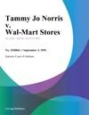 Tammy Jo Norris V Wal-Mart Stores