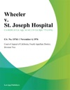 Wheeler V St Joseph Hospital