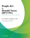 People C V Donald Nacey
