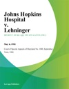 Johns Hopkins Hospital V Lehninger