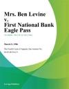 Mrs Ben Levine V First National Bank Eagle Pass